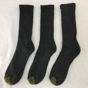 6 Pair of Gold Toe Work/Athletic Crew Socks Gray